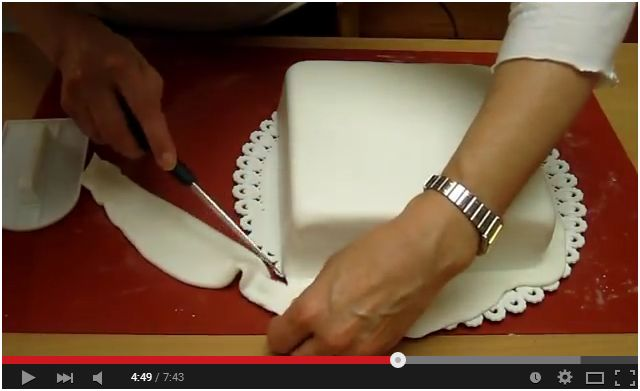 Video Tutorial. Rivestire una torta quadrata con la pasta di zucchero